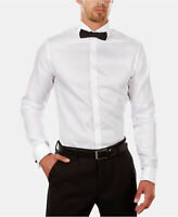 Calvin Klein Mens Extra SlimFit French Cuff Dress Shirt Bow Tie Set 16.5 32/33