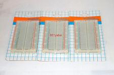 3X 400 Tie Points Contact Solderless Breadboard Bread Board Protoboard; US Base