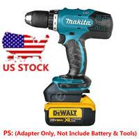 DEWALT 20V Li-ion Battery to Makita 18V BL1820/30/40 Tools Adapter(Adapter Only)