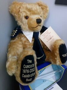 Concorde 1976-2003 Celebration Hermann Bear Limited Edition. number 109 of 1976.