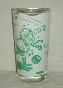 """Bowling Tumbler Drinking Beer Glass Cup Vtg Heart Attack 5"""""""