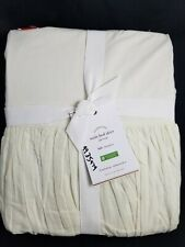 """Pottery Barn Voile Bed Ivory Bed Skirt Full 15"""" Drop #3035"""