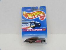 1995 Hot Wheels Steel Passion Black #285 White Wall Tires 1/4 Steel Stamp Series