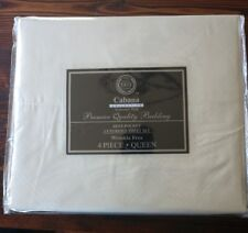 Hotel 5th AVE  4 Piece Queen Sheet Set Deep Pocket Microfiber Ivory Wrinkle Free