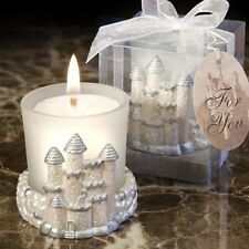 12 Princess Fairy Tale White & Silver Candle Birthday, Shower Event Gift Favors