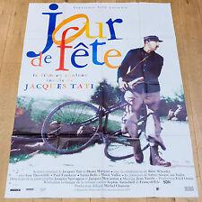 Affiche de cinéma : JOUR DE FÊTE de JACQUES TATI   RESSORTIE EN COULEURS
