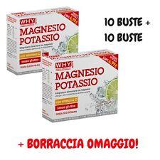 MAGNESIO E POTASSIO WHY SPORT - 20 BUSTINE GUSTO AGRUMI + BORRACCIA OMAGGIO