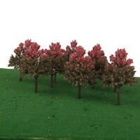 10 pcs Cypress Model Trees 1:100 HO OO Scale Layout Diorama Train Scenery