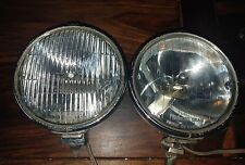 A PAIR OF LUCAS SPOT FOG LAMPS LIGHTS CLASSIC VINTAGE RAT/ROD exc condition