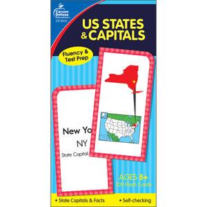 Carson Dellosa Education U.S. States & Capitals Flash Cards, Grade 3-5