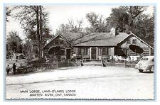 ONTARIO MARTEN RIVER MAIN BUILDING LAND O' LAKES LODGE REAL PHOTO CIRCA 1952