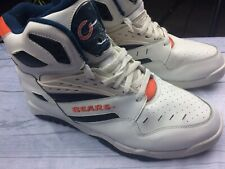Rare Vintage 80's Men's Shoes TEAM NFL Chicago Bears High Top Sneakers Size 10.5