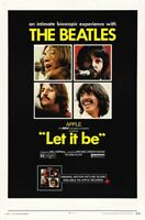 Let it be The Beatles cult movie poster print