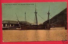 HALF MOON SAILING BOAT SHIP AT BEAR MOUNTAIN NEW YORK NY  MADDEN EARLY  POSTCARD