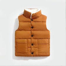 Kids boy girl Sleeveless Jacket Vest waistcoat Quilted warm fleece coat jackets