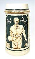 Antique 1920s German Pottery Beer Stein Sport Ball Game Klootschieten Kloot