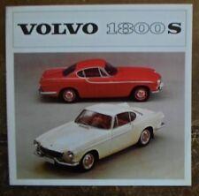 VOLVO 1800S SPORTS CAR orig 1963 UK Mkt Sales Brochure - P 1800 S