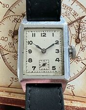 Pretty Jaeger Looking Tank Style Vintage Dress Watch with Aeroplane Movement