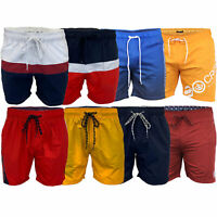 Mens Swimming Shorts Crosshatch Surf Board Trunks Beach Mesh Lined Casual Summer