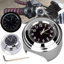 Quadrante nero 22-25mm Orologio da manubrio universale in alluminio per moto Orologio da polso con quadrante in metallo con impugnatura in metallo Orologio da moto