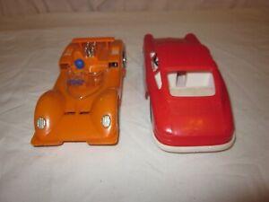 2 x Plastikautos Porsche und Rennwagen