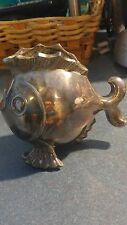 #303 silver plate Halifax figural fish planter OXFORD PLATE s.p. lead