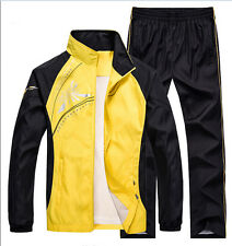 2Pc Men New Tracksuit Athletic Sport Activewear Basketball Jogging Suits Jacket