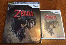 Legend of Zelda: Twilight Princess (Nintendo GameCube, 2006) W/ Official Guide