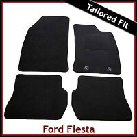 FORD FIESTA Mk5 2002-2008 Fully Tailored Carpet Car Floor Mats BLACK
