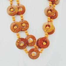 Boho Wood Disk Bead #109 Maasai Market African Jewelry Handmade Necklace