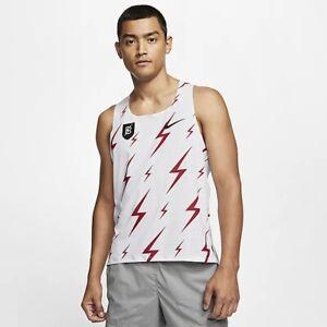 Nike Pro Elite Aeroswift Bowerman Track Club Singlet Gyakusou CW1257-100 Size M