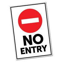 No Entry Sticker Decal Safety Sign Car Vinyl #5465K
