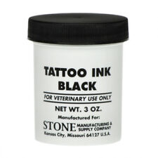 STONE TATTOO INK BLACK PASTE Livestock Pigs Pets 3oz.