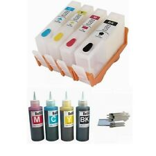 4 HP 920XL Refillable ink Cartridges for HP Officejet 6500 7000 plus ink