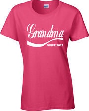 Grandma Since 2017 Mothers Day Grandmother JUNIOR FIT Ladies Tee Shirt 1571