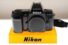 Nikon F801S AF program/auto/manual SLR. MINT- condition. +strap. Motorized!