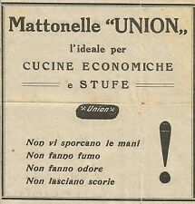 W6491 Mattonelle UNION per Cucine e Stufe - Pubblicità 1930 - Advertising