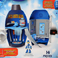 """NEW Mega Man Fully Charged 14-PC Playset by Mega Buster Lab, 9.25"""""""