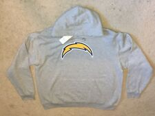 Men's 2XL Los Angeles CHARGERS NFL Team Apparel Gray Pull Over Hoodie NWT