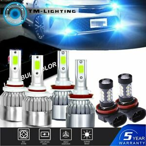 For Toyota Camry 2007-2014 6PCS Bulbs Kit 8000K LED Headlight + Fog Light Combo