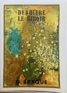 Georges Braque 1965 LITHOGRAPH wCOA La Chaudron Stunning Braque Vintage Art Unique Present of Exclusive Braque Rare Art Free Shipping