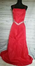 Niki by Niki Livas Red 2 Piece Ball/Prom Dress/Gown. Lace up Back. Size 10.