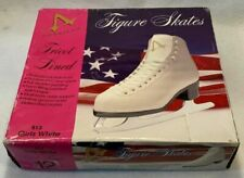 American Athletic Shoe Girl's Tricot Lined Ice Skates White Size 12y Style 512
