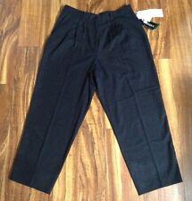 Nuevo con Etiqueta Bonito! Sag Harbor Vestido Plisado Pantalones Negros 18 Tiro