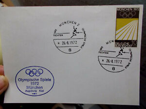 Karte München 26.8.1972  Olympische Spiele München