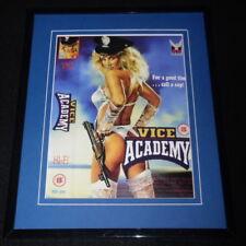 Vice Academy Framed 8x10 Repro Poster Display Linnea Quigley Ginger Lynn Allen