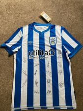 More details for official huddersfield town signed 2021-22 shirt. size large. htafc. bnwt.
