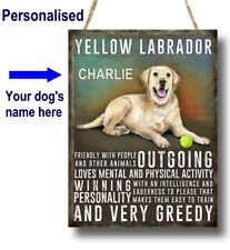 PERSONALISED LABRADOR Yellow Black Chocolate Dog Breed Plaque Sign gift vintage