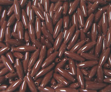 Brown color Spaghetti Craft Beads 19x6mm 200pc Made in the USA