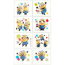 Minions Party Supplies Favours TATTOOS Sheet